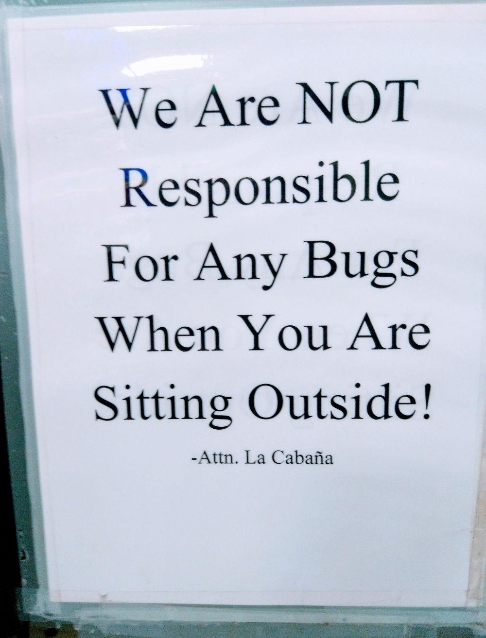 bugs outside image